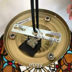 NICE Tiffany Style Ceiling Light/Lamp 10 Shade Handcrafted Art Stained Glass UK