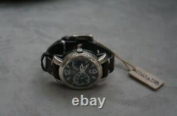 NWT Uno de 50 Handcrafted Brown Leather Quedamos Silver Wrist Watch