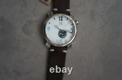 NWT Uno de 50 Handcrafted Leather White Face Me Voy Silver Wrist Watch
