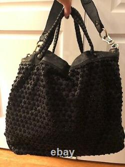 New Handcrafted Black Ruggeri & Luciani Leather Bag Made In Italy