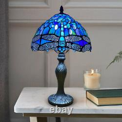 New Tiffany Style Table Lamp Handcrafted Art Bedside/Desk Lamps Stained Glass UK
