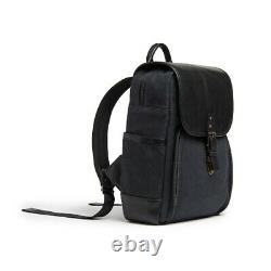 ONA THE MONTEREY (Black)- Premium Handcrafted Compact Canvas & Leather Backpack