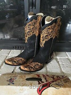 Old Gringo Womens Western Mackenzie Leather Overlay Boots 10