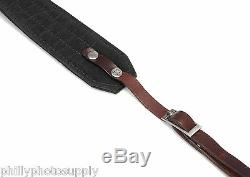 Ona Presidio Handcrafted Waxed Canvas and Leather Camera Straps (Black)