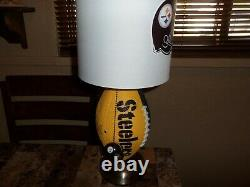 Pittsburgh Steelers Football Table Lamp (handcrafted)