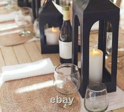 Pottery Barn Caleb Handcrafted Metal Lantern Black LARGE 36 H NEW OPEN BOX