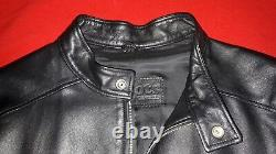 Roots Men's Black Leather Jacket Handcrafted in Canada High Quality