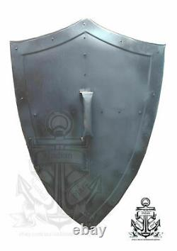 SCA LARP Knight Shield Metal Handcrafted Medieval Armour Shield halloween Gift
