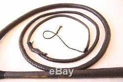 STOCKWHIP 6 Ft, 12 Plaited Genuine Leather Australian Stock Whip, Hand Crafted