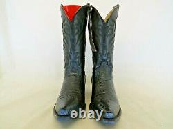 Stetson Men's Alligator Belly Exotic Cowboy Boots Handcrafted Size 9 D Black
