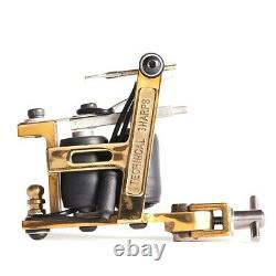 TTS Hybrid Brass Frame Liner or Shader Tattoo Machine with Coils Hand Crafted