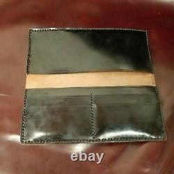 Third Pig-Long Lat-Black Shell Cordovan Long Wallet Handcrafted in USA
