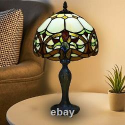 Tiffany Style Table Desk Bedside Lamp Antique Hand Crafted Stained Glass Shade