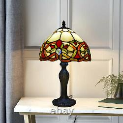 Tiffany Style Table Lamp Handcrafted Art Bedside Desk Lamp Stained Glass UK