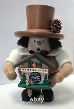 Ulbricht GERMAN SMOKER IMBODEN COLLECTION BLACK FOREST FELLOW with CUCKOO CLOCK
