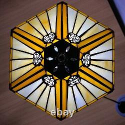 Unique Tiffany Style Table Lamp Handcrafted Desk Lamps Stained Glass UK Plug