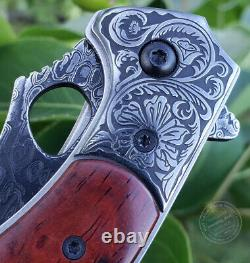 Vg10 Damascus Hunting Knife Camping Army Rescue Folding Pocketknife With Sheath