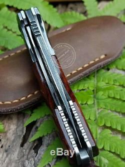 Vg10 Damascus Hunting Knife Folding Camping Army Rescue Tool Seller Emazing Deal