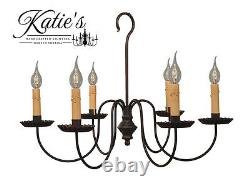 Wilcox Chandelier by Katie's Handcrafted Lighting Primitive Colonial NEW