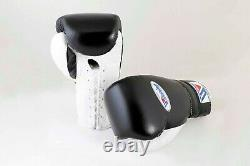Winning Boxing Gloves Black/White Lace Type MS 600 16 oz Handcrafted in Japan
