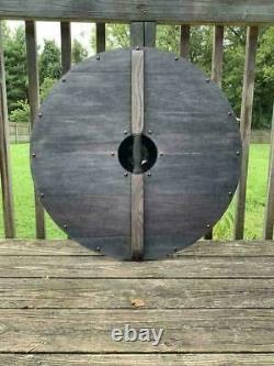 X-MAS gift Medieval Knight Shield Handcrafted Blue Viking Shield Steel Armor