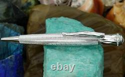 Xezo Handcrafted Austrian Crystal Encrusted Ballpoint Pen withserial Rhodium Plat