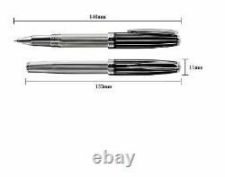 Xezo Handcrafted Incognito Solid 925 Sterling Silver Rollerball Pen. LE 250