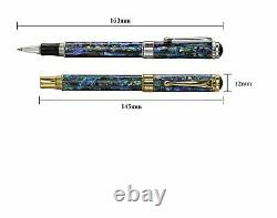 Xezo Handcrafted Maestro Sea Shell Rollerball Pen. Platinum Plated. LE with Serial